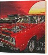 69 Dodge Super Bee Wood Print