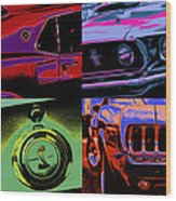 '69 Mustang Wood Print