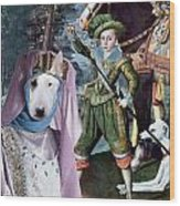 Bull Terrier Art Canvas Print Wood Print