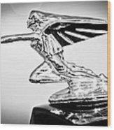 1935 Packard Hood Ornament -0295bw Wood Print