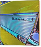 1957 Chevy Bel Air Custom Hot Rod Wood Print