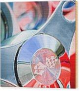 1960 Chevrolet Corvette Steering Wheel Emblem Wood Print