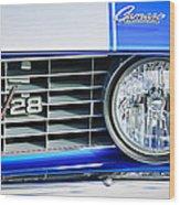 1969 Chevrolet Camaro Z-28 Grille Emblem Wood Print