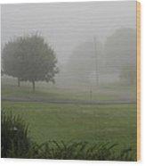 7 A M Fog Wood Print