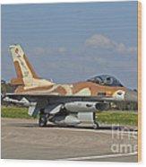An F-16c Barak Of The Israeli Air Force Wood Print