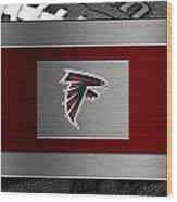 Atlanta Falcons Wood Print by Joe Hamilton