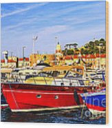 Boats At St.tropez Wood Print