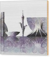 Brasilia Skyline Wood Print
