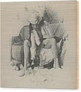 Brothel Scene  Wood Print