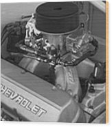 Chevrolet Engine Wood Print