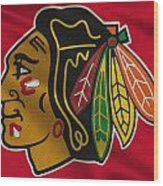 Chicago Blackhawks Uniform Wood Print