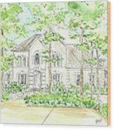 Custom House Portrait  Or Rendering Sample Wood Print