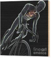 Cycling Wood Print