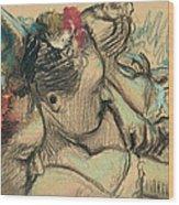 Dancers Wood Print by Edgar Degas