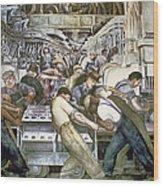 Diego Rivera - Detroit Wood Print