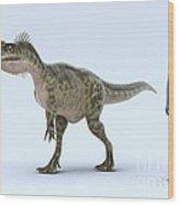 Dinosaur Monolophosaurus Wood Print