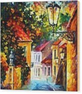 Evening Wood Print by Leonid Afremov