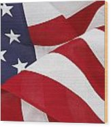 Flag Wood Print by Les Cunliffe