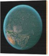 Global Tectonics Wood Print