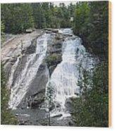 High Falls North Carolina Wood Print