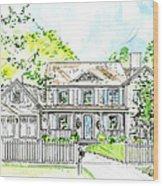 House Rendering Wood Print
