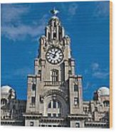 Liverpool's World Heritage Status Waterfront Buildings Wood Print