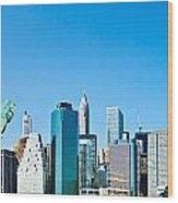 Manhattan - New York City Wood Print