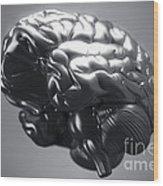 Metallic Brain Wood Print