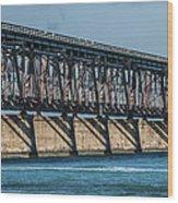 7 Mile Bridge Wood Print