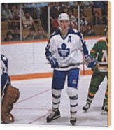 Minnesota North Stars v Toronto Maple Leafs Wood Print