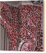 Mosaic Doorway Wood Print