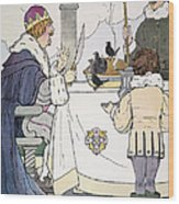 Mother Goose, 1916 Wood Print