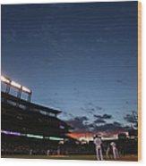 New York Mets V Colorado Rockies 7 Wood Print