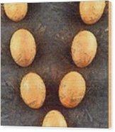 Organic Eggs Wood Print by George Atsametakis