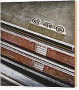1969 Pontiac Gto Taillight Emblem -0475a Wood Print