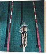 Professional Swimmer Wood Print