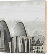 Rio De Janeiro Skyline Wood Print