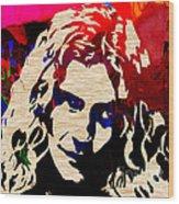 Robert Plant Wood Print by Marvin Blaine
