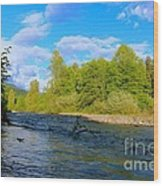 Salmon  Creek  Wood Print by Tim Rice