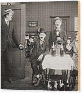 Silent Film Still: Drinking Wood Print