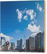 Skyline Of Uptown Charlotte North Carolina Wood Print