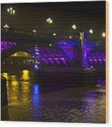 Southwark Bridge London Wood Print