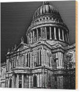 St Pauls Cathedral London Art Wood Print by David Pyatt