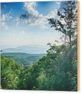 Sunrise Over Blue Ridge Mountains Scenic Overlook  Wood Print