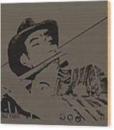 The Jazz Flutist Wood Print
