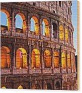 The Majestic Coliseum - Rome Wood Print