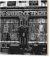 The Sherlock Holmes Pub Wood Print