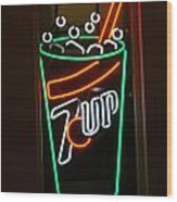 7 Up Sign Wood Print