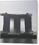 View Of The Towers Of The Marina Bay Sands In Singapore Wood Print