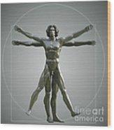Vitruvian Man Wood Print